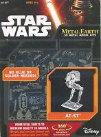 Fascinations Metal Earth 3d Laser Cut Steel Puzzle Model Kit - Star Wars At-st