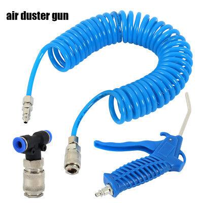 Ausblaspistole Luftpistole 10Kg//cm² LKW Druckluftpistole Spiralschlauch inkl