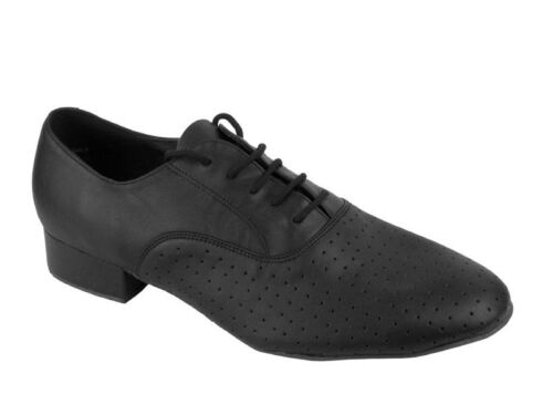 Men/'s Black Leather Salsa Ballroom Tango Dance Shoes 1 inch Standard and Smooth