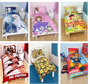 Kids-Disney-and-Character-Single-Panel-Duvet-Cover-Bedding-Sets-New-License