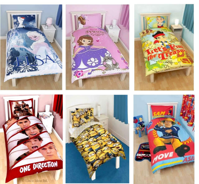 Kids Disney and Character Single Panel Duvet Cover Bedding Sets New License