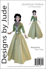 """Outlander Scottish Claire Doll Sewing Pattern for 22"""" American Model Tonner"""