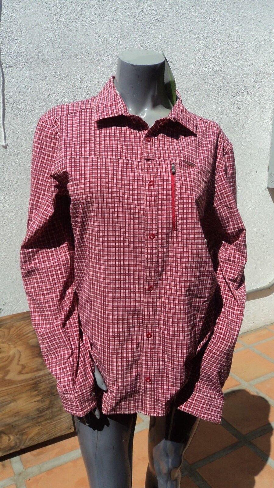 Craighoppers CMS491 Red NL Berko Long Sleeved Shirt