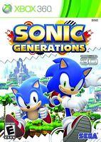 Sonic Generations [xbox 360, 2d & 3d Platform Action Video Game]