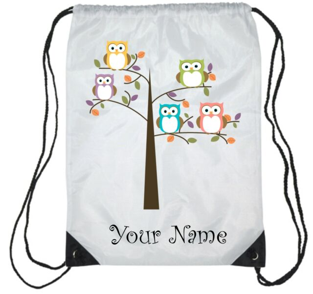 Personalised Owl Gym , PE, Sports,  Swimming Bag, Back to School, Dance,Girls 2
