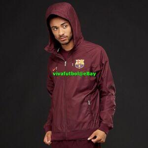 NEW Nike Mens FC Barcelona 17 18 NSW Authentic Windbreaker ... a86ce264236cf
