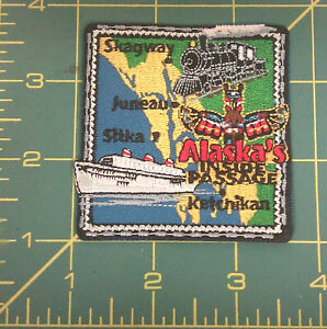 Alaska-Inside-Passage-iron-on-Embroidered-Patch-we-combine-amp-ship-worldwide