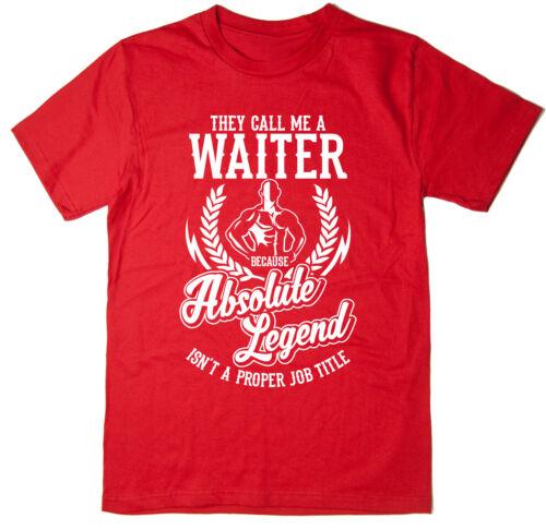 Divertente T-shirt disponibile in 6 colori. T-shirt CAMERIERE-assoluto legenda