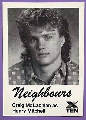 IAN SMITH *Harold Bishop* Vintage NEIGHBOURS 1988 Channel 10 Cast Fan Card