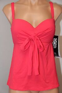5162d9f4c07fe NWT Coco Reef Swimsuit Bikini Tankini Top Sz 32/34D Underwire Five ...