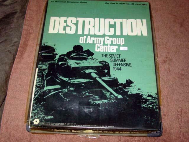 SPI 1973 - Destruction of Army Group Center - Soviet Summer Offensive 1944 (PUN)