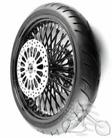 Black 21 3.5 52 Fat Spoke Mammoth Wheel 120/70 Tire Package 08-2017 Touring Abs