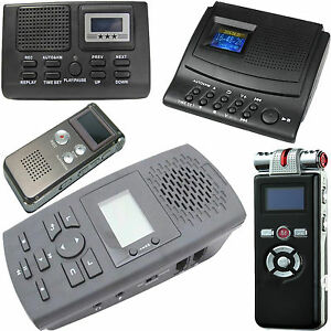 AUTOMATIC-DIGITAL-TELEPHONE-VOICE-RECORDER-FOR-LANDLINE-CORDED-amp-CORDLESS-PHONES