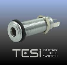 Tesi Premium Stereo Output Barrel Jack for Guitar or Bass - Chrome