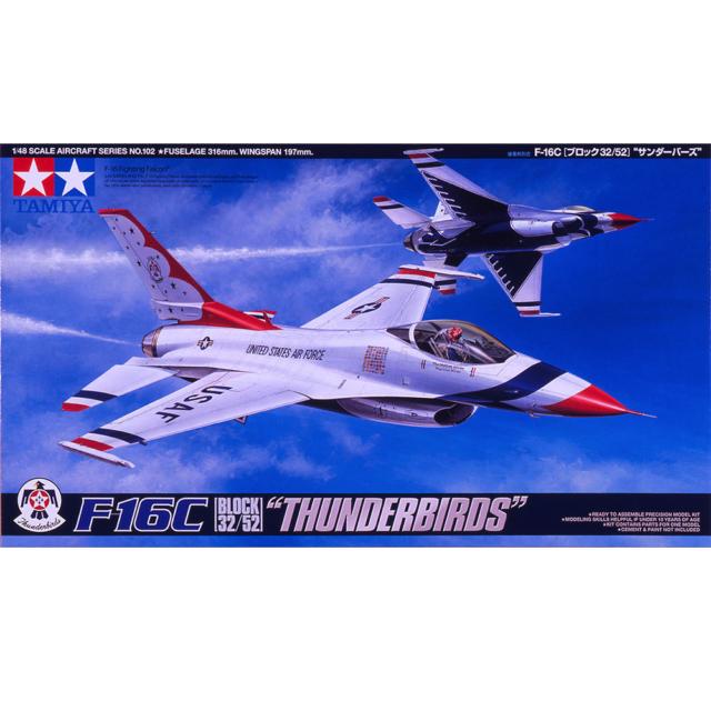 """Tamiya 61102 F-16C Bloc 32/52 """"Thunderbirds"""" 1/48"""