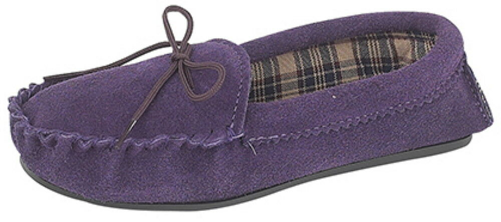 Ladies Suede Moccasin Slippers  - **SALE**  - sizes 8  &  9 only £7 - Post Free