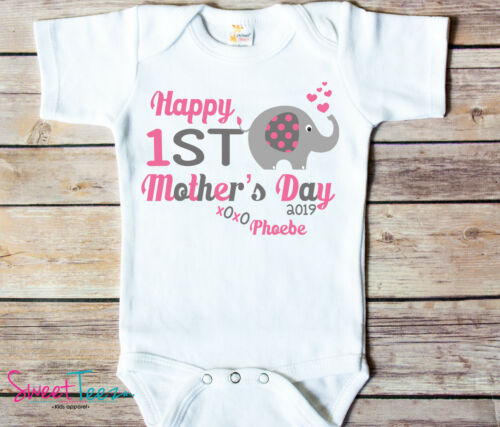 Personalized First Mothers day shirt for baby custom 1st mothers day gift Mom