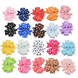 20X-Handmade-Bow-Hair-Clip-Alligator-Clips-Girls-Ribbon-Kids-Sides-Accessories