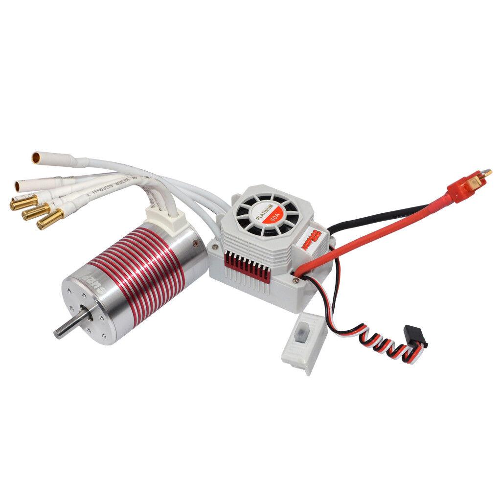 IMPERMEABILE 3660 3800 kV Brushless Motor +60 A ESC Combo Set per 1/10 RC Auto