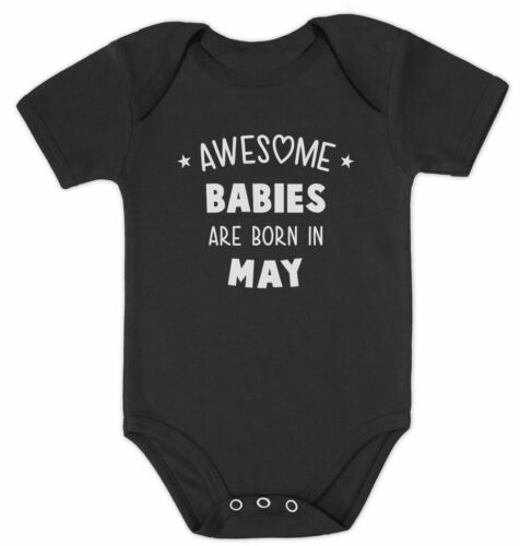 Awesome Babies Are Born In May Birthday Gift Cute Baby Bodysuit Baby Shower
