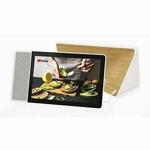 Lenovo-10-034-Smart-Display-with-Google-Assistant-White-Front-Bamboo-Back