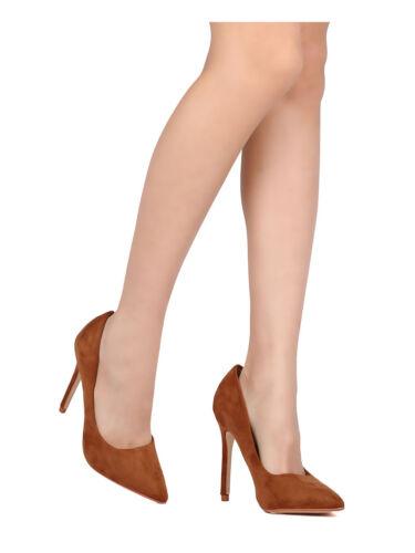 Women Faux Suede Stiletto Pump Formal Pointy Toe Heel Beronica-1 By Cappe Robbin