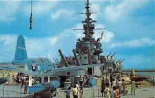 MOBILE AL BATTLESHIP USS ALABAMA~SHRINE TO ALABAMIANS WHO FOUGHT IN WAR POSTCARD