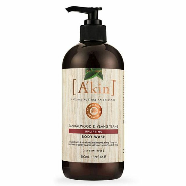 A'kin Sandalwood Ylang Ylang Uplifting Body Wash Natural And Vegan 500ml *DEAL*