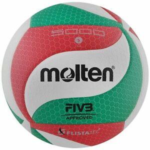 Volley-ball Molten v5m5000 FIVB Blanc-Rouge-Vert Balle de match