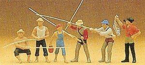Preiser OO / calibrador Ho pescadores figuras de Plástico 10077