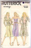 Butterick Sewing Pattern 3132, Vintage Jacket, Camisole, Skirt, Size 12, Uncut