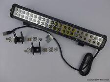 LED Arbeitsscheinwerfer Zusatzscheinwerfer light bar 2-reihig 126W IP68 10V-30V