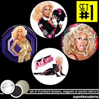 Rupaul Set Of 4 Buttons Or Magnets Or Mirrors Ru Paul Charles Drag Race 1469