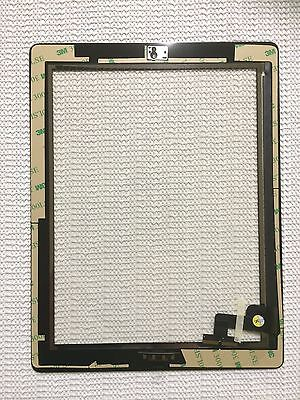 White Pre-installed Adhesive Replacement Digitizer Touch Screen Glass For iPad 2