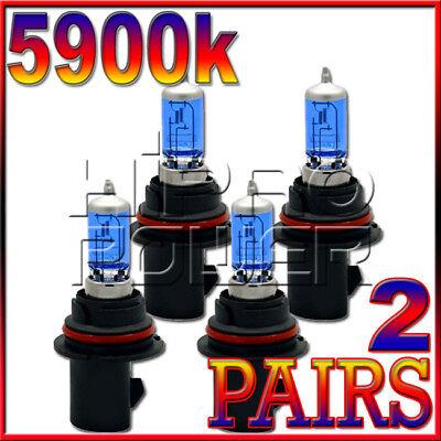 9007 5900K XENON HALOGEN HEADLIGHT 1999 2000 2001 DODGE RAM 3500 W//4 HEADLIGHT
