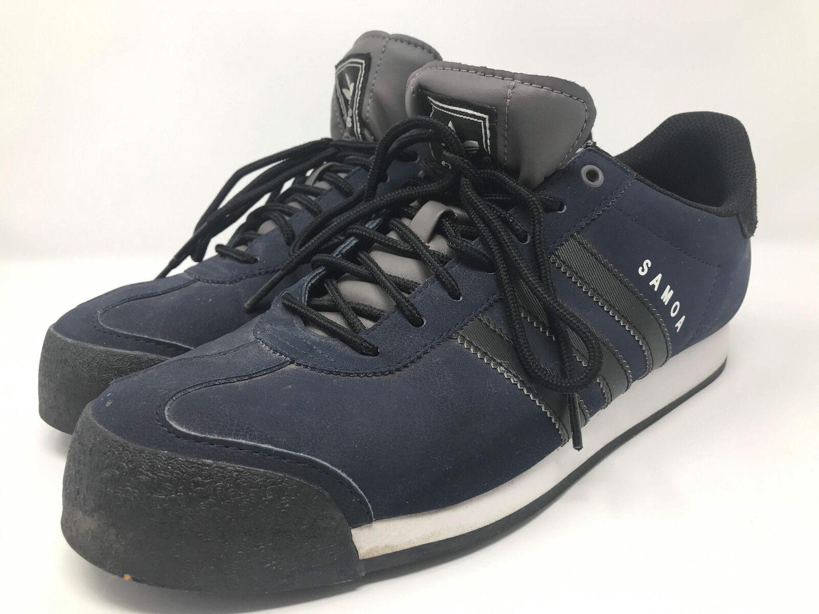 Original Adidas Samoa Blue Navy Black Men's Sneakers Shoes Size 10.5