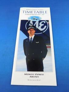 MIDWEST-EXPRESS-AIRLINE-TIMETABLE-SCHEDULE-MAY-1997-TRAVEL-ADVERTISING