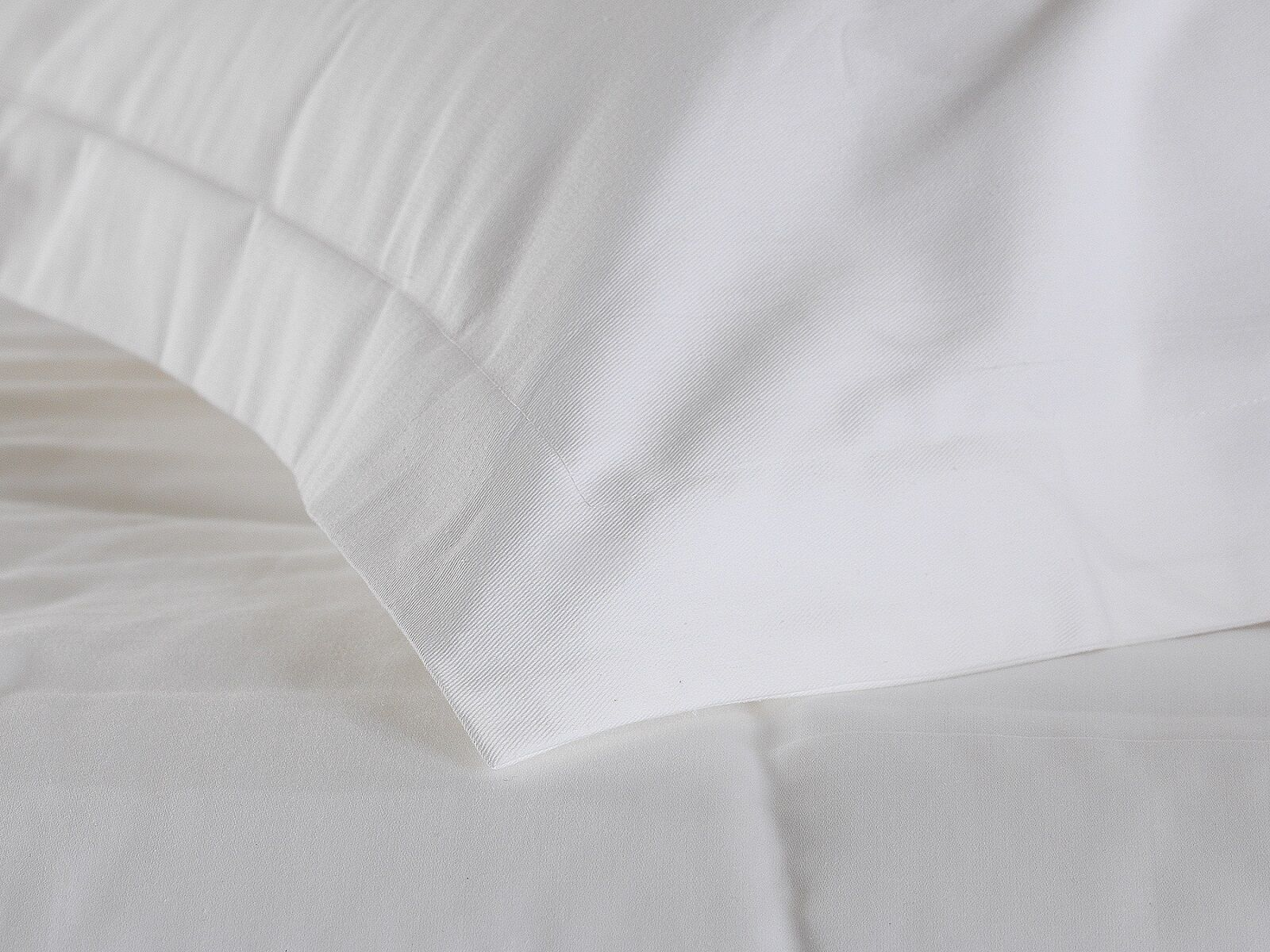 Premium gamma di lino bianco - 100% Twill COTONE 20 o 30 Twill 100% Bianco copripiumini a71161
