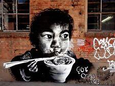 ART PRINT POSTER PHOTO GRAFFITI MURAL STREET UNHAPPY PRIEST NOFL0364