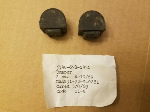 N.O.S M151 M151A2 MUTT Clutch and Brake Pedal Rubber Bumpers G838 M151A1 Jeep