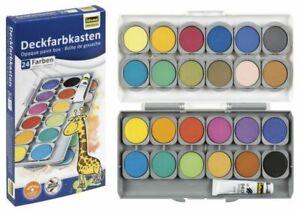 Deckfarbkasten Malkasten Set Tuschkasten Wasserfarben Farben Farbkasten Deckweiß