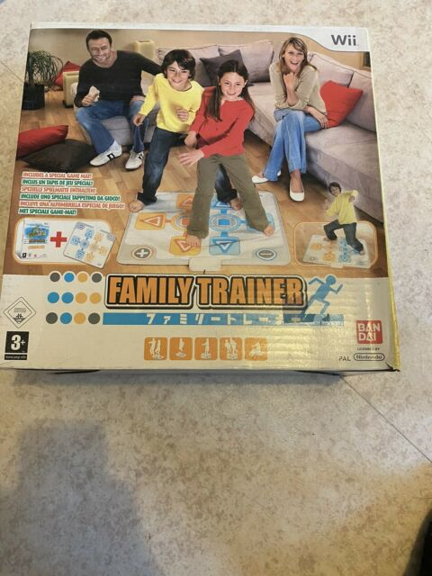 😍 jeu pack nintendo wii neuf family trainer jeu + tapis famille enfants play