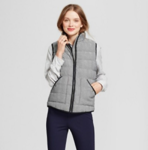 A-New-Day-Women-039-s-Black-Herringbone-Quilted-Lined-Puffer-Vest-Sizes-XL-or-XXL-NW