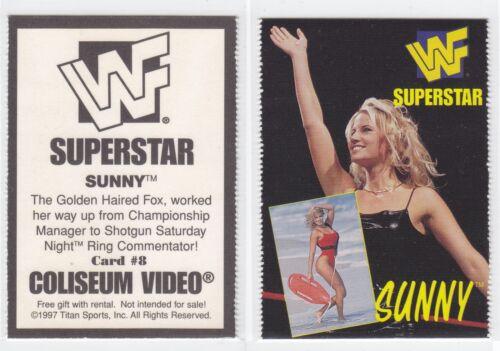 SUNNY *Rare* 1997 Coliseum Video WWE WWF Promo Card #8 TAMMY LYNN SYTCH *MINT*