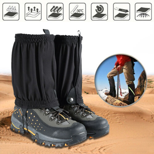 Details about  /Waterproof Outdoor Climbing Hiking Snow Ski Leg Cover Boot Legging Gaiters CA