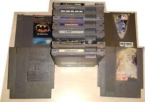 11 Dirty Game lot Nintendo NES Tecmo Super Bowl Mario Duck Hunt Double Dragon 2
