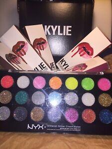 FAMOUS KYLIE косметика 5 комплектов вместе + распроданы Nyx избранные кремовая палитра!!!