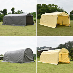 10x20 Ft Canopy Carport Tent Outdoor Storage Shed Car Shelter Water Uv Proof Xxl Ebay