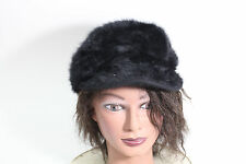 Vintage Black Kangol Angora Furgora Spitfire Cap Hat Medium Kangaroo on Back