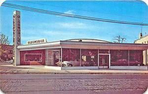 Verona NJ Robert B. King Oldsmobile Dealership Postcard